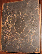 Photo: Antique 1853 Holy Bible Old and New Testament. Old, Family Bible. Printed in 1853. Heavy decorative hard cover. Leather