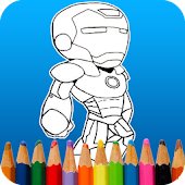 Tải Game Super Hero Coloring Iron