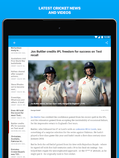 ESPNCricinfo - Live Cricket Scores, News & Videos 6.1.1 screenshots 11