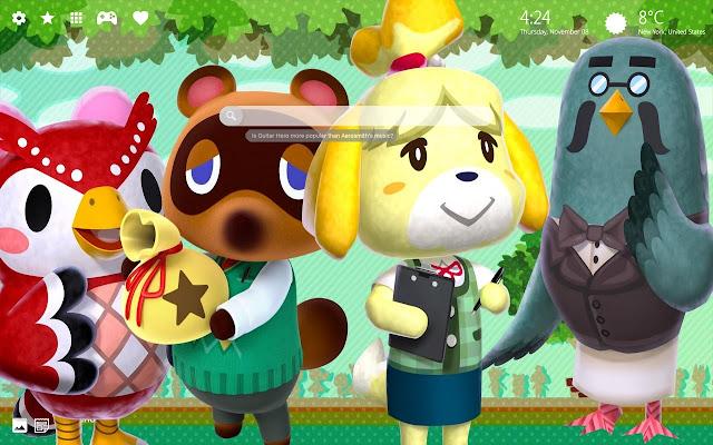 Animal Crossing Hd Wallpaper New Tab Theme