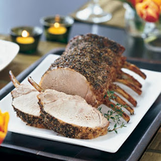 Herb-Brined Pork Prime Rib Roast.