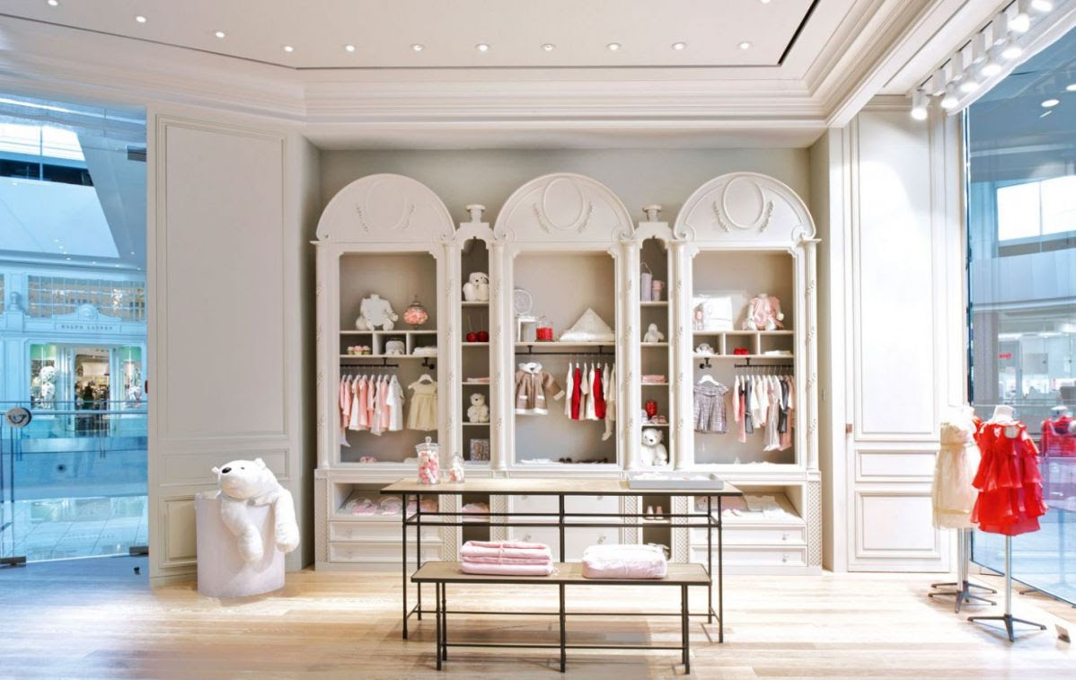 thiết kế shop quần áo cho bé