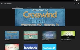 Screenshot of myCrosswind
