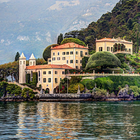 Villa del Balbianello at Lake Como, Italy by Steve Densley - Landscapes Waterscapes ( architechture, italian villa, lake como, lake, italy )