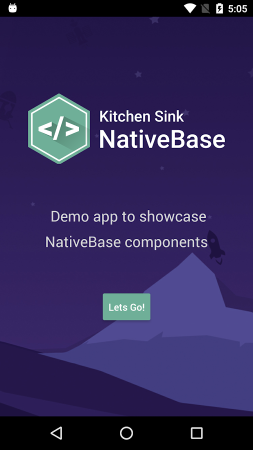 NativeBase KitchenSink- screenshot