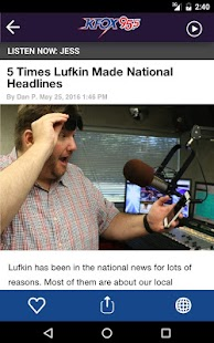 K-Fox 95.5 - Lufkin (KAFX)- screenshot thumbnail