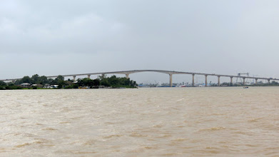 Photo: Paramaribo - Suriname River and Jules Wijdenbosch Bridge