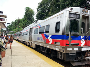 Photo: Of course we had to get from Media to 30th Street station via Septa. Look new train cars!
