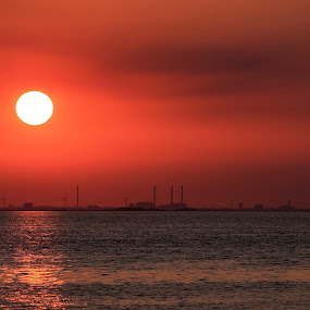 Time stops for nothing and no one by Joachim Persson - Landscapes Sunsets & Sunrises ( water, copenhagen, skyline, time, sunset, sea, denmark, city )