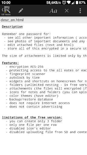 VIP Notes - keeper for passwords, documents, files screenshot 8