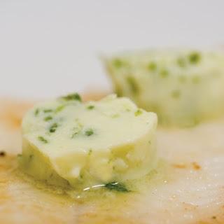 Pan Fried Sole with Yuzu Wasabi Butter.