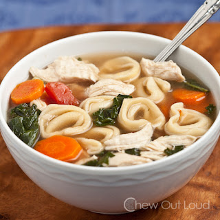 Chicken and Vegetable Tortellini Soup