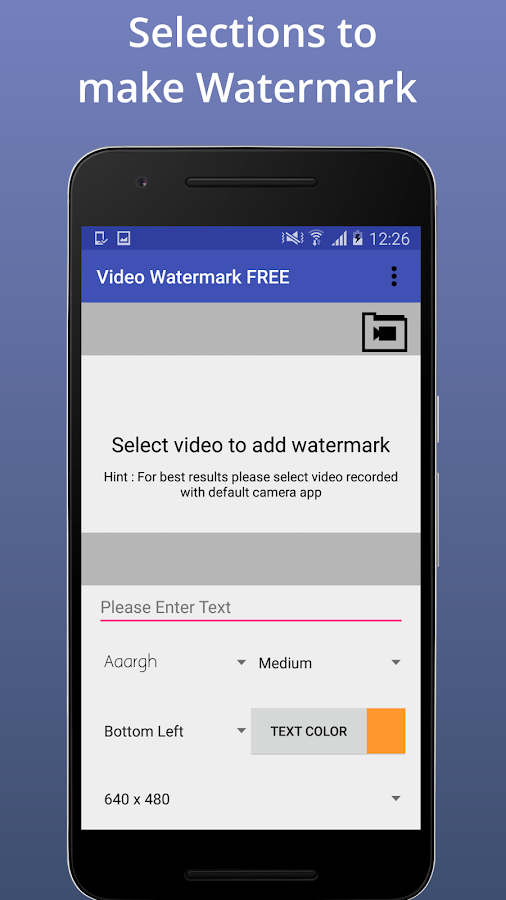 Video Watermark FREE- screenshot