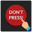 Red button: do not disturb, clicker games, not not icon