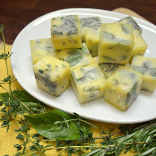Preserving Herbs in Frozen Olive Oil Cubes {Two Versions}