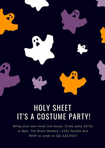 Holy Sheet Costume Party - Halloween Template