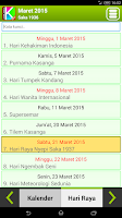 Screenshot of Kalender Bali
