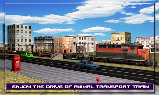 Wild Animal Transport Train 3D
