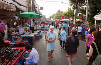 Photo: The Sunday market along the maain street of the old city