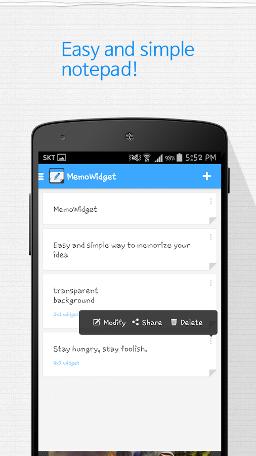 Memo Widget (Note Widget)- screenshot