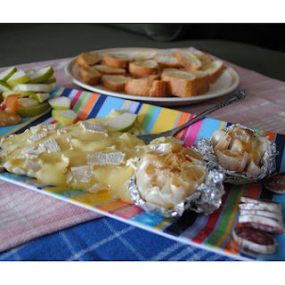 Roasted Garlic With Baked Brie