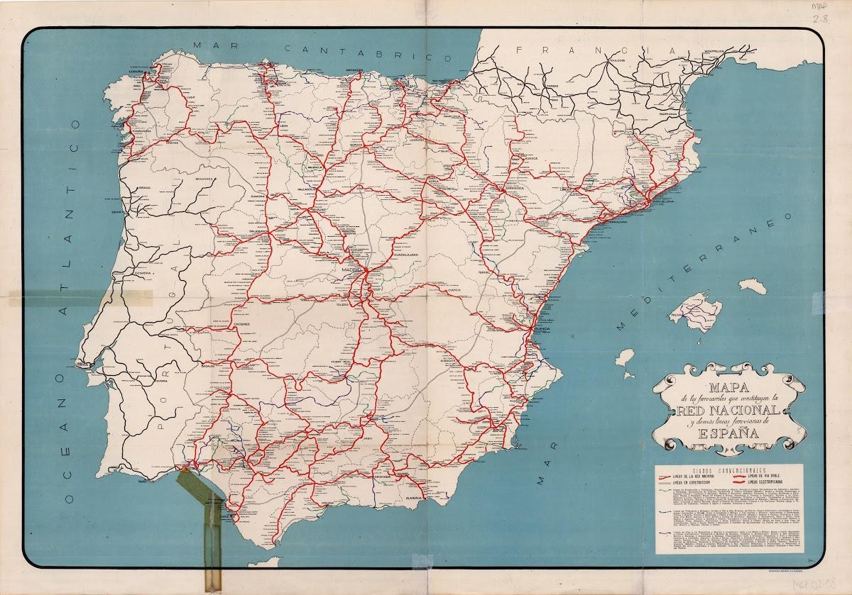 Mapa Ferroviario De España.El Ferrocarril A Traves De Sus Mapas Fundacion De Los