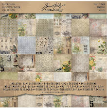 Tim Holtz Idea-ology Paper Stash Paper Pad 12X12 36/Sheets - Wallflower
