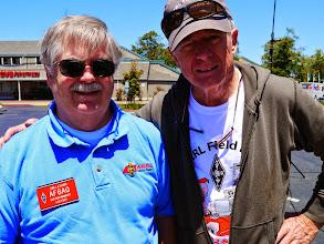 Photo: Jim Latham (AF6AQ) with Bruce (KI6CYT).