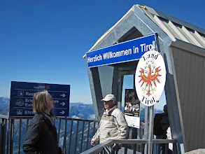 Photo: Crossing The Austrian-German Border Atop the Zugspitze