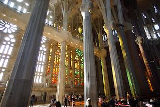 Photo: Interior of Sagrada Familia