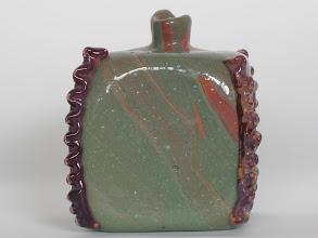 Photo: Lorenzo Radi. Calcedonio vase with decorative rigaree application. Circa 1850's