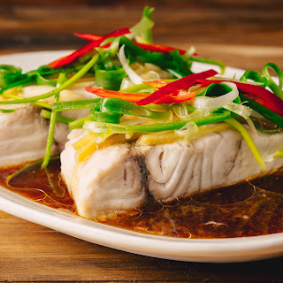 Steamed Ginger & Lime Fish Fillets.