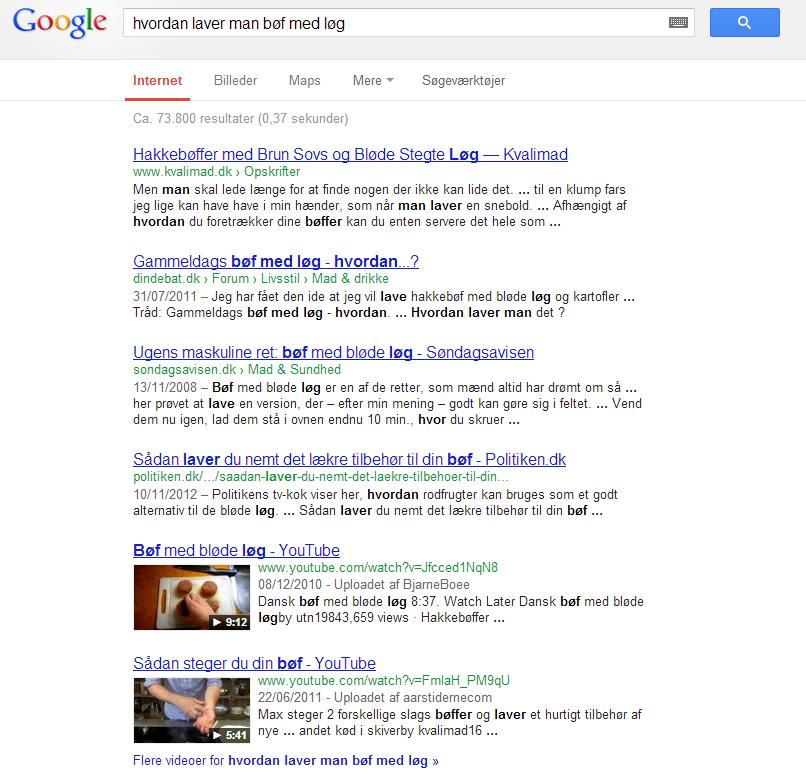 Dine videoer vises også i Google søgninger