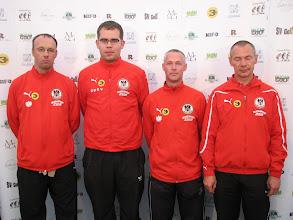Photo: Coaches Austria. Hans Schiling, Mario Dangl, Norbert Wagenhofer and Christian Adler. Photo: Bengt Svensson