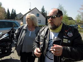 Photo: Vor dem START: Treffen beim Friedhof in Baunach