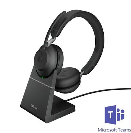 Jabra Evolve2 65 Stereo MS Teams USB-A med laddställ