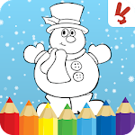 Kids coloring book christmas Icon