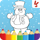 Kids coloring book christmas