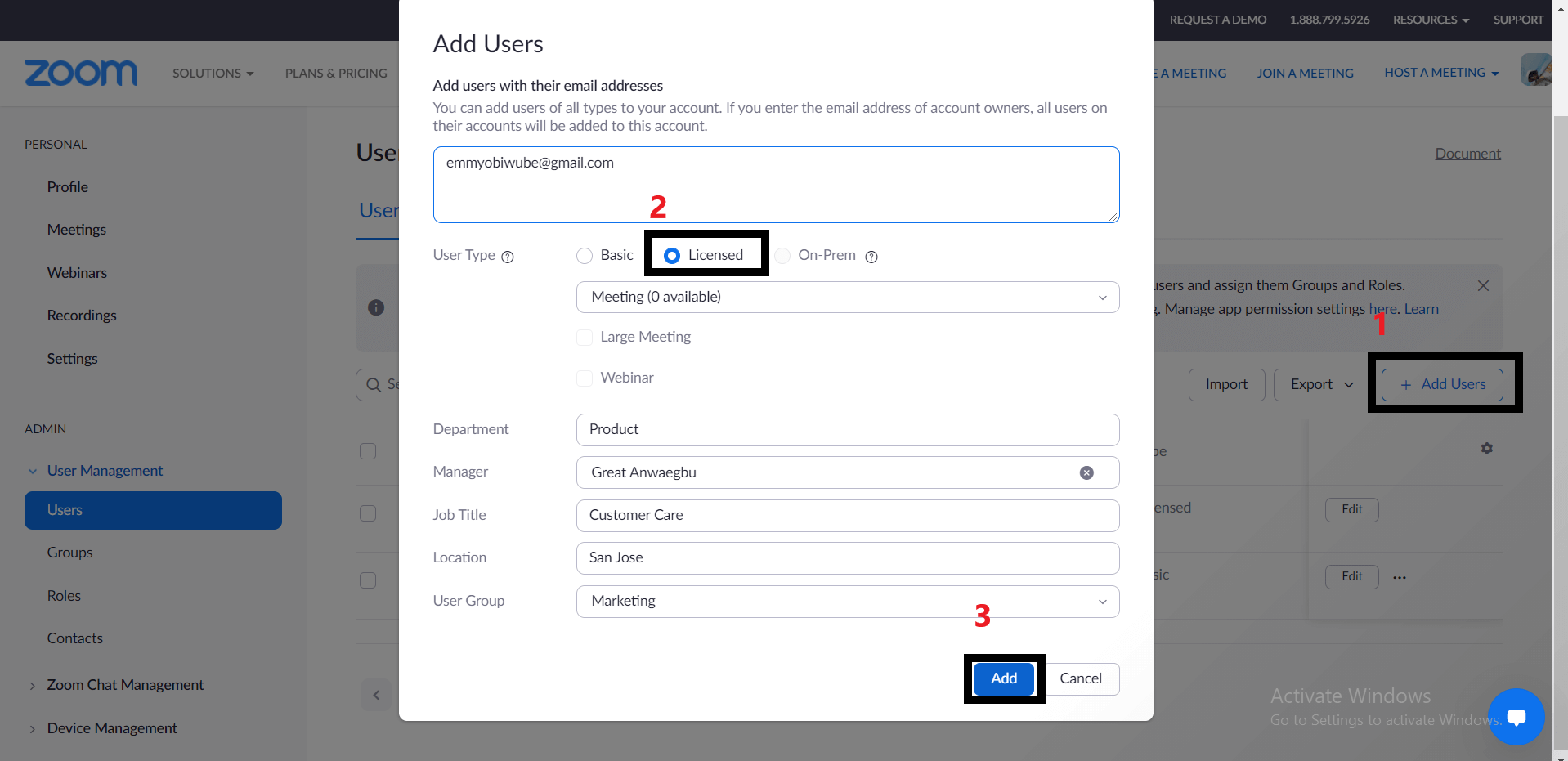 Migrate individual contacts from Teams to Zoom Chat