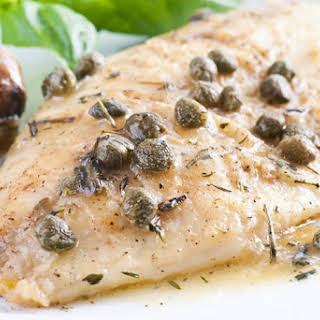 Fish in Herbed White Wine and Caper Sauce.