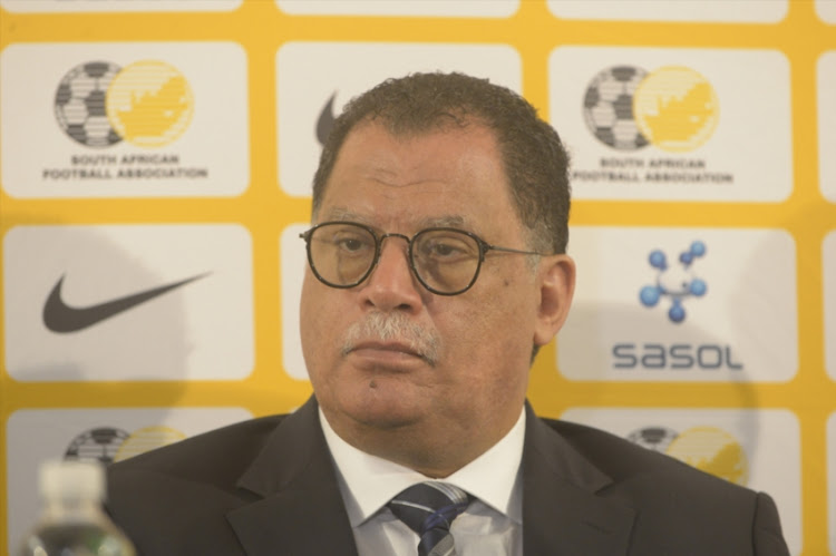 President Danny Jordaan of SAFA during the South African National women's team arrival from COSAFA Women's Championship at OR Tambo International Airport on September 25, 2017 in Johannesburg, South Africa.