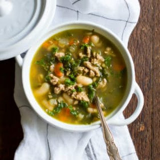 Ground Turkey White Bean Kale Soup Recipe
