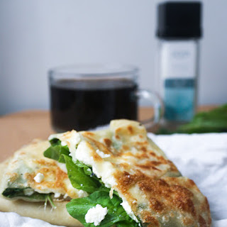 Spinach and Feta Gozleme.