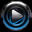 Poweramp skin Light Blue Glow icon