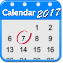 2017 Calendar App for Android™ icon