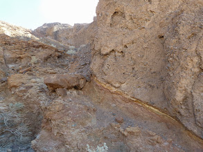 Photo: Young alluvium in the hanging wall at Badwater.