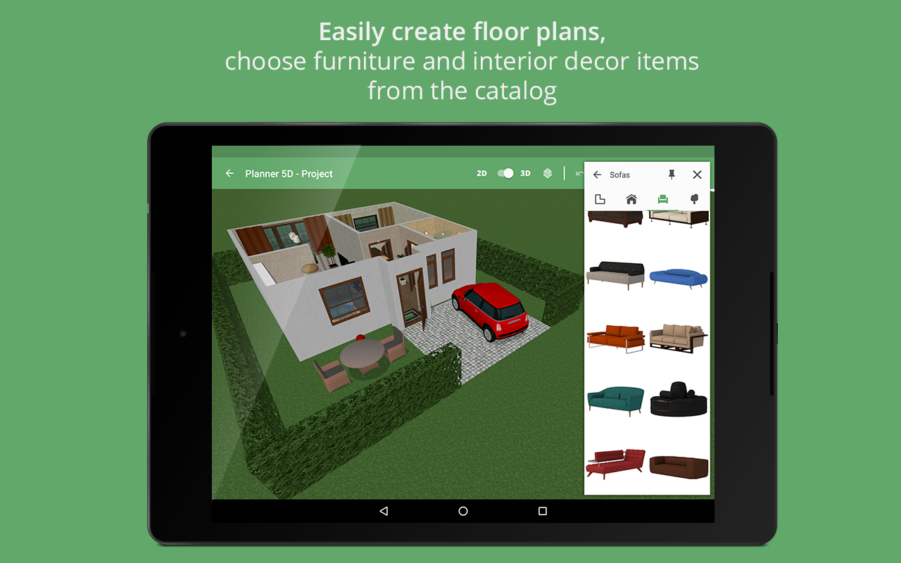 Planner 5d home interior design creator android apps for Home decorating app