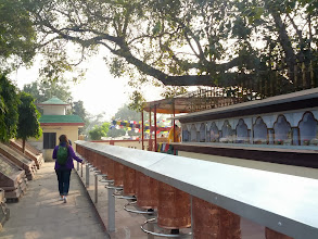 Photo: At Sarnath deer park, the location where Buddha gave his first teaching after enlightenment.