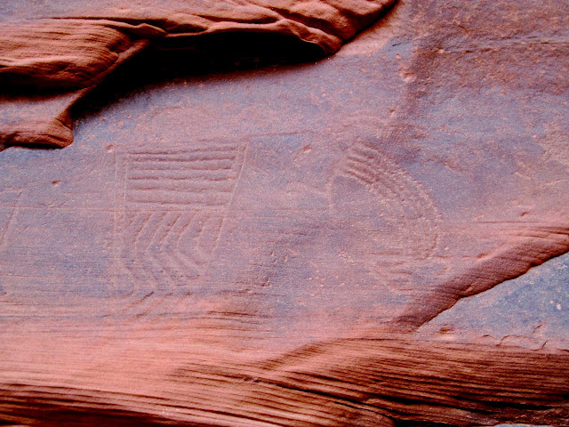 Unusual style of petroglyphs