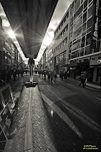 Photo: It is a shot in Cologne Hohestraße near the cathedral. It is for #MonochromeMonday and #ReflectionMonday